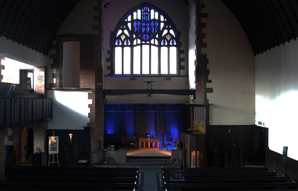 Mackintosh's Queen's Cross Church interiors